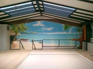 Photo Trompe l'oeil dans une piscine , particulier 49