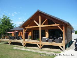 Photo Maison bois : construction près de Pau (Pyrénées Atlantiques, 64)