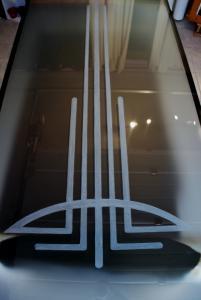 Photo gravure sur vitres