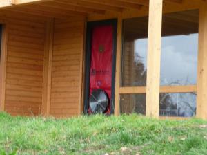 Photo Test de perméabilité à l'air par infiltrométrie maison individuelle