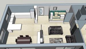 Photo agencement maison sur plan 3D