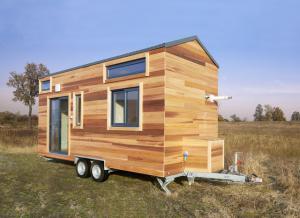 Photo Tiny house Maison en bois sur roues