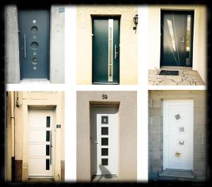 Photo Quelques exemples de nos portes d'entrées