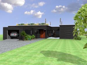 Photo concept et réalisation maison ossature bois