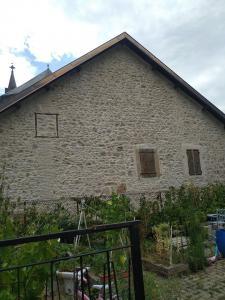 Photo façade en joint de pierre