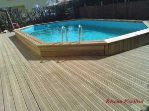 Promo piscine bois port vendres au salon batiexpo perpignan for Promo piscine bois octogonale