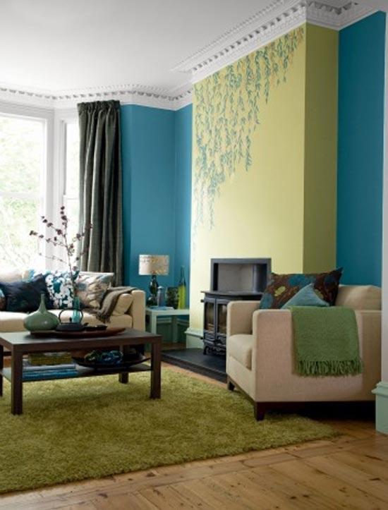 Une D Coration Estivale Dans Sa Maison Forum Amazing Of Blue And Green Living Room
